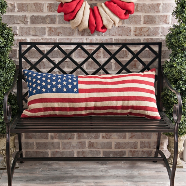 Completely new American Flag Bench Pillow | Kirklands YH41
