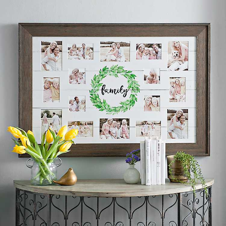 Family Wreath Shiplap Collage Frame | Kirklands