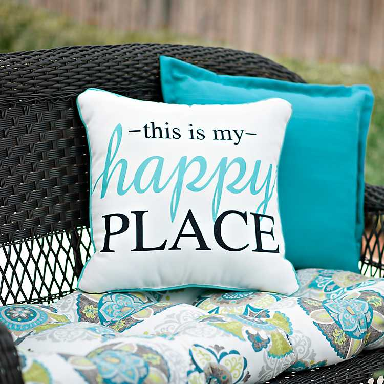 how to style your sofa using throw pillows simply grove.htm this is my happy place outdoor pillow kirklands  this is my happy place outdoor pillow