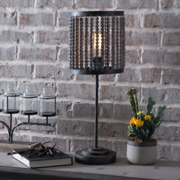 Beaded edison table lamp kirklands aloadofball Image collections