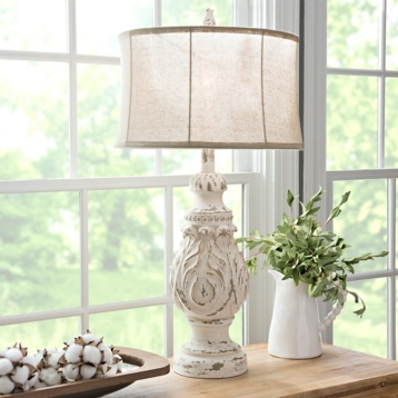 Caroline distressed cream table lamp kirklands aloadofball Image collections