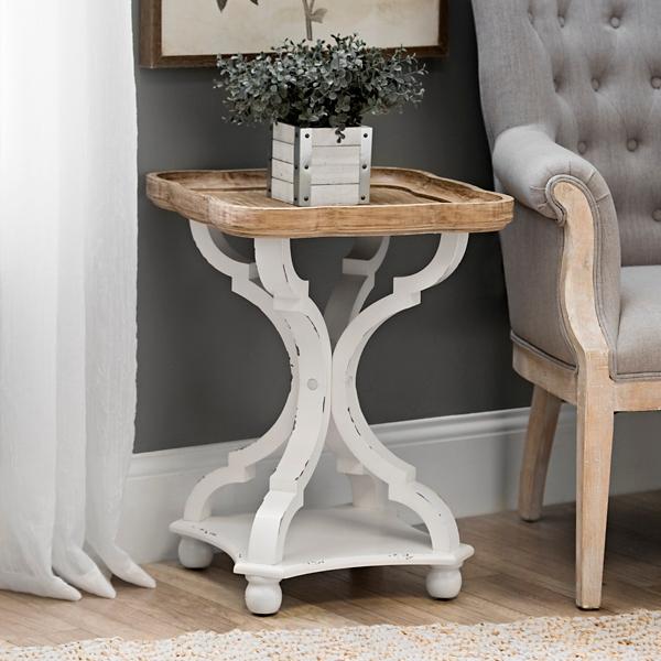 Corina Scalloped Accent Table · Sonoma Side Table