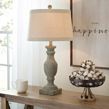 Blue and gray wash table lamp kirklands aloadofball Image collections