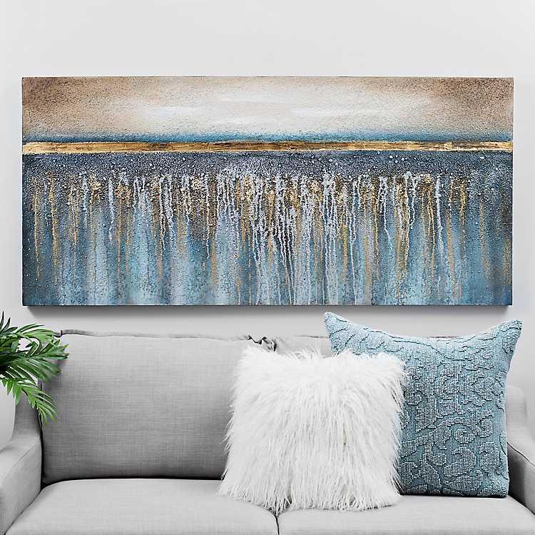 Blue and Gold Sparkle Canvas Art Print  e2c7629d9a