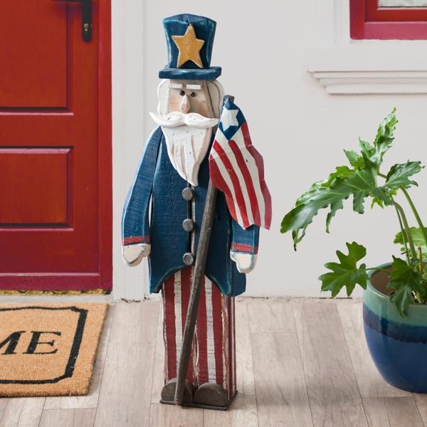 Uncle Sam Flag Statue