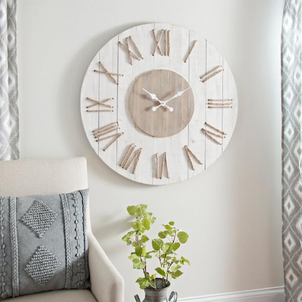 Jessy White Rope Wall Clock