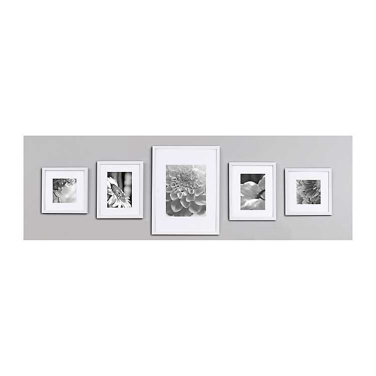 White Wood 5-pc. Gallery Wall Picture Frame Set | Kirklands