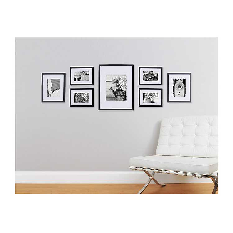 7 Pc Gallery Wall Picture Frame Set