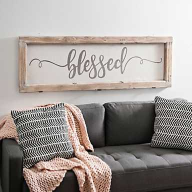 Blessed Rustic Door Frame Plaque