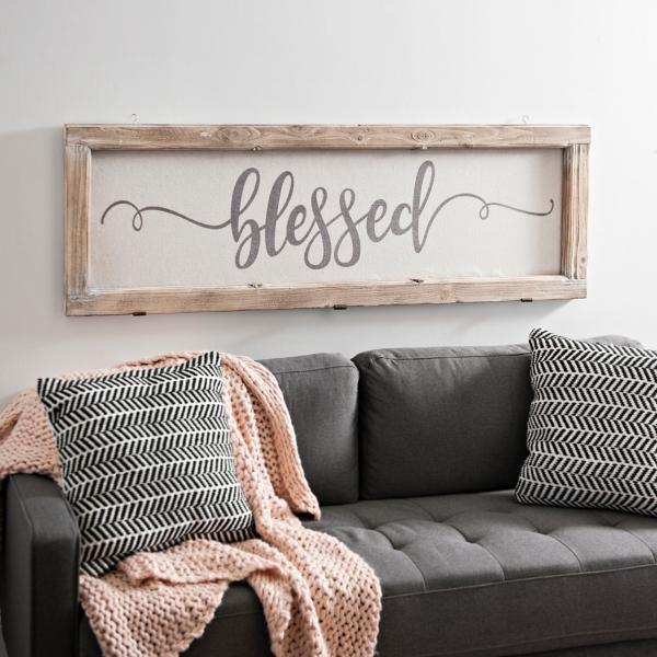 Blessed Rustic Door Frame Plaque