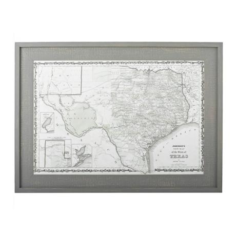 Texas Map Framed Wall Art | Kirklands