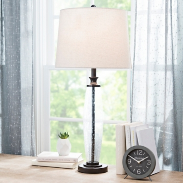 Clear textured glass table lamp kirklands