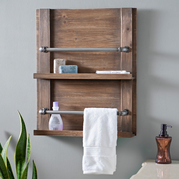 Barnwood Towel Rack | Kirklands