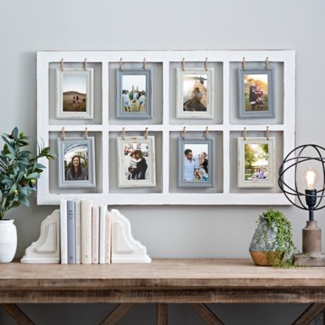Hanging Rope Windowpane Collage Frame | Kirklands