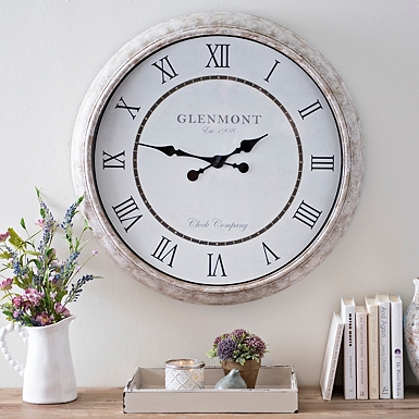 Katelyn Distressed Wall Clock   Kirklands