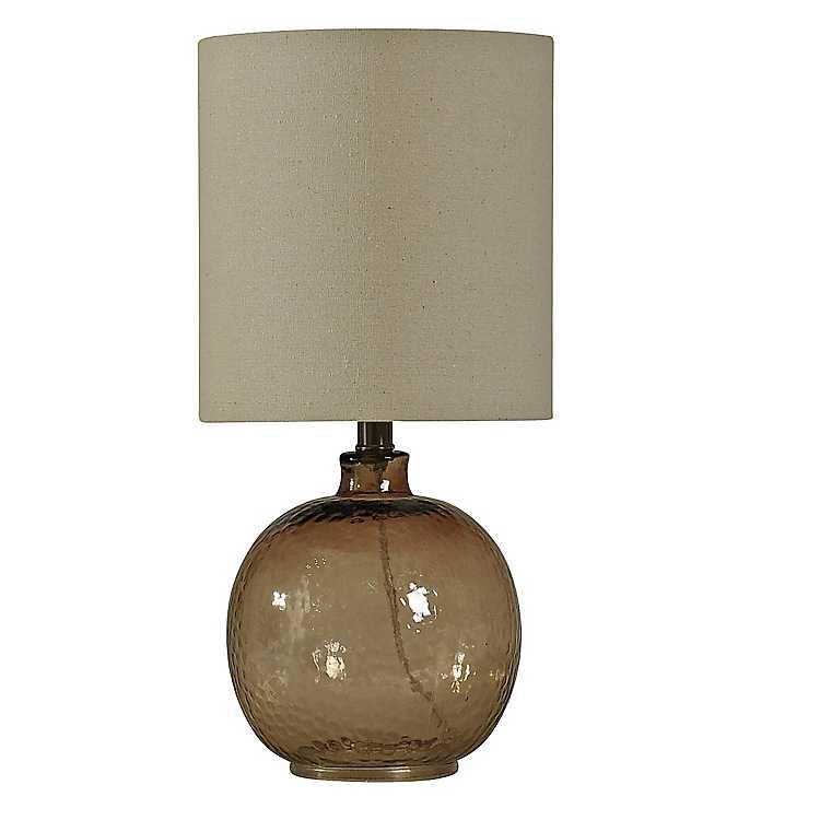 Ordinaire Amber Spanish Glass Ball Mini Table Lamp ...