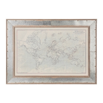 Ocean current world map framed art print kirklands gumiabroncs Choice Image