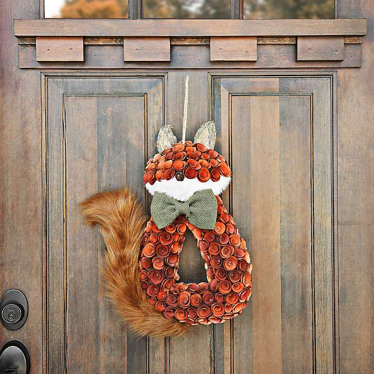 Fox Wood Curl Wreath Kirklands