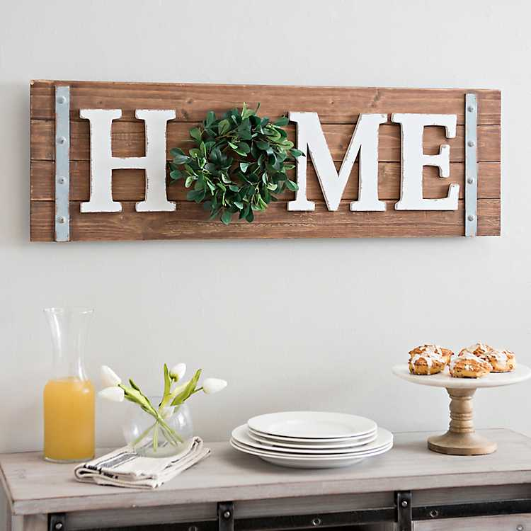 Product Details Home Wreath Wooden Wall Plaque