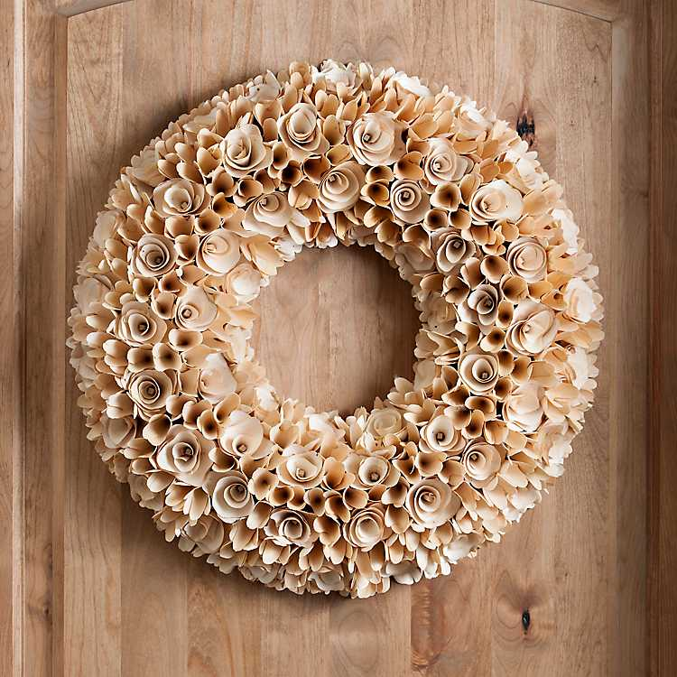 Natural Wood Chip Curl Wreath Kirklands