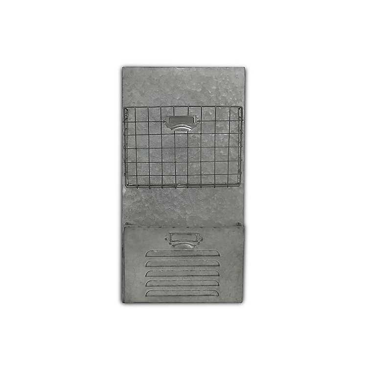 Galvanized Wire And Metal Wall Storage ...