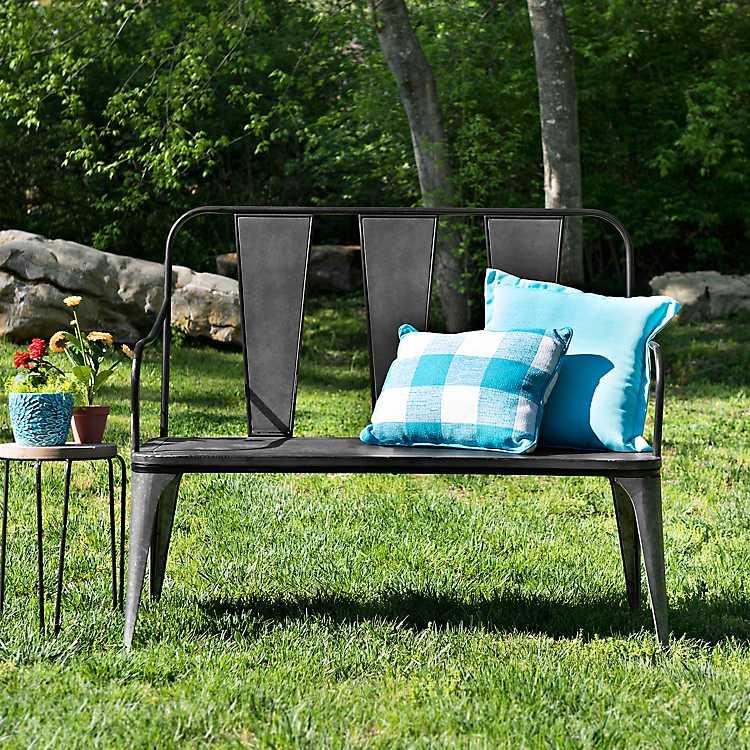 Astonishing Galvanized Metal Outdoor Bench Ncnpc Chair Design For Home Ncnpcorg