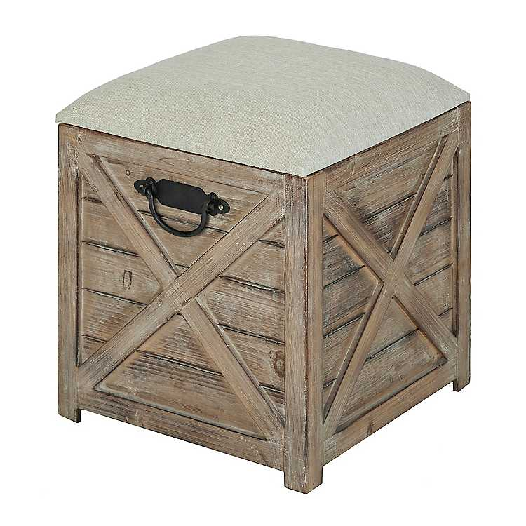 Superb Wooden Crate Storage Ottoman Pabps2019 Chair Design Images Pabps2019Com
