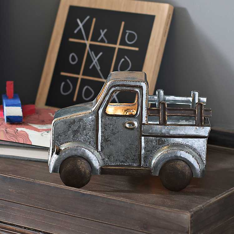 Galvanized Metal Truck Tabletop Night Light ...