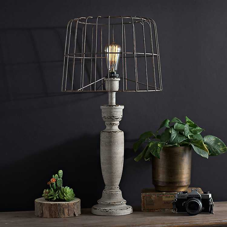 Product Details. Karli Cream Edison Bulb Table Lamp