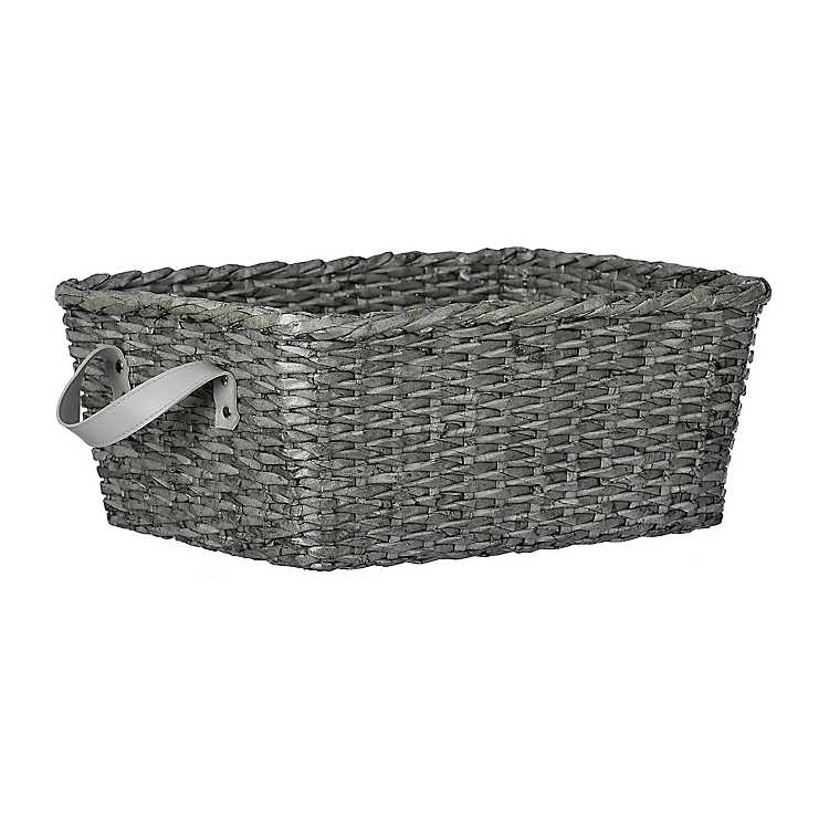 decorative baskets dried flowers small baskets country basket.htm woven gray basket kirklands  woven gray basket kirklands