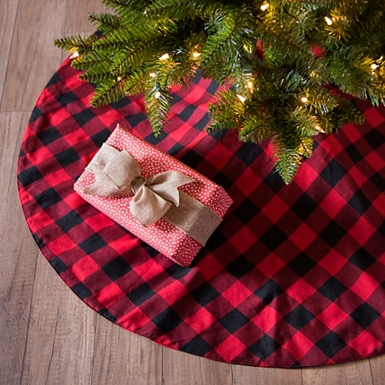 red and black buffalo check tree skirt kirklands