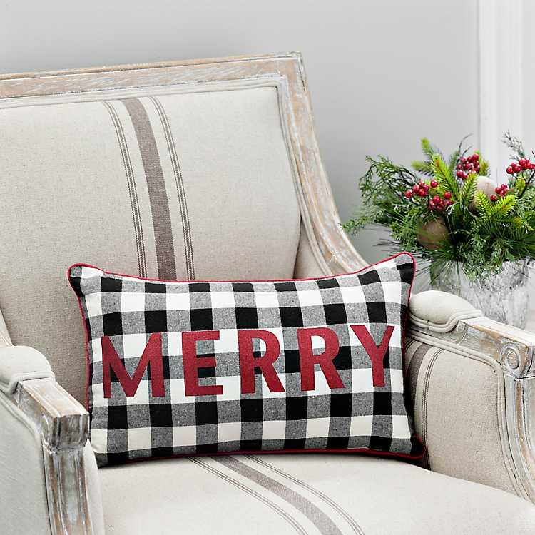 Merry Buffalo Check Accent Pillow