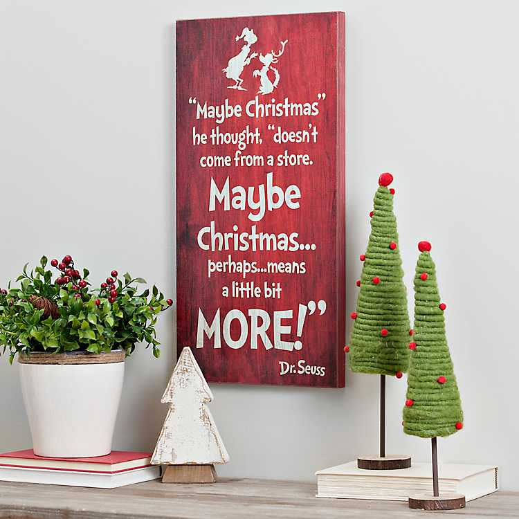 dr seuss grinch christmas wall plaque