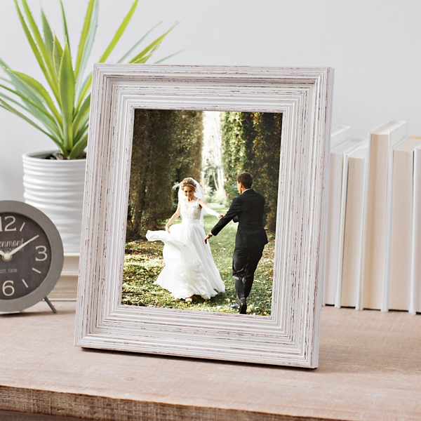 Distressed White Woodgrain Picture Frame 8x10 Kirklands