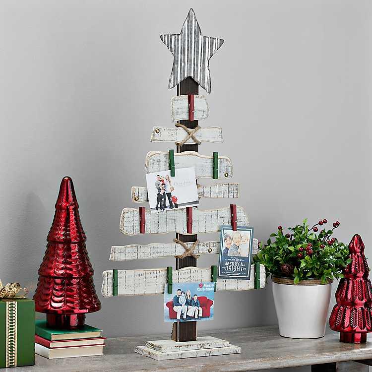 Wooden Christmas Tree Card Holder Kirklands