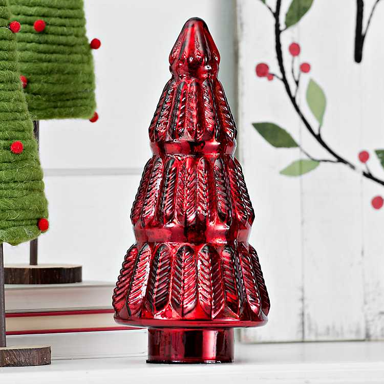 Product Details. Red Mercury Glass Tree ...