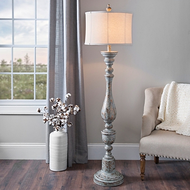 Floor lamps torchiere floor lamps kirklands distressed eloise floor lamp aloadofball Image collections
