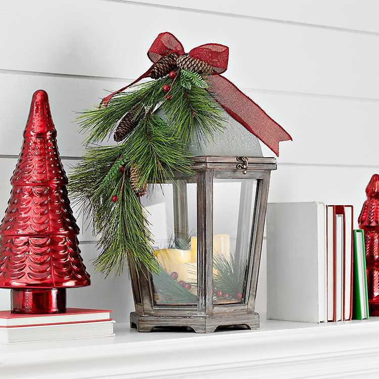 Product Details Fl Wood Led Christmas Lantern