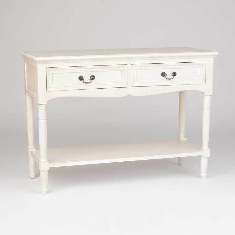 Ava Ivory Console Table ...