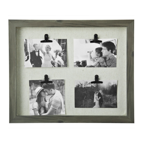 Washed Gray 4-Clip Collage Frame | Kirklands
