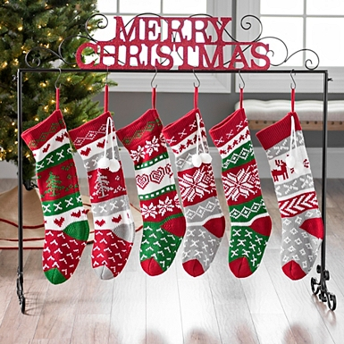 merry christmas glitter stocking holder kirklands - Christmas Stocking Holders For Fireplace