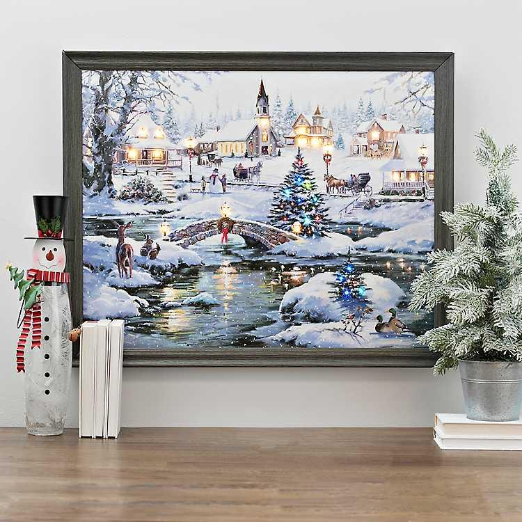 Icy Lights LED Framed Art Print | Kirklands