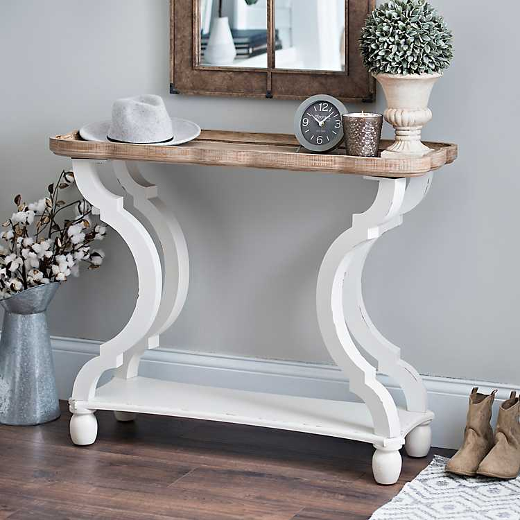 Fantastic Corina Scalloped Console Table Squirreltailoven Fun Painted Chair Ideas Images Squirreltailovenorg