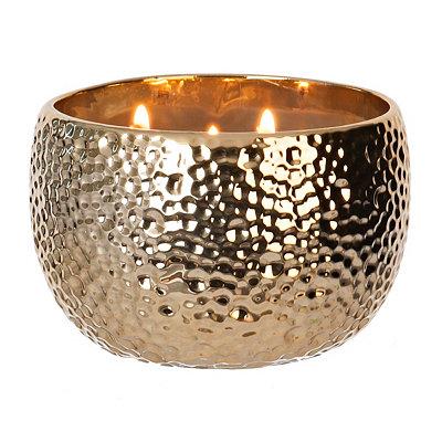 Hammered Gold Jar Candle