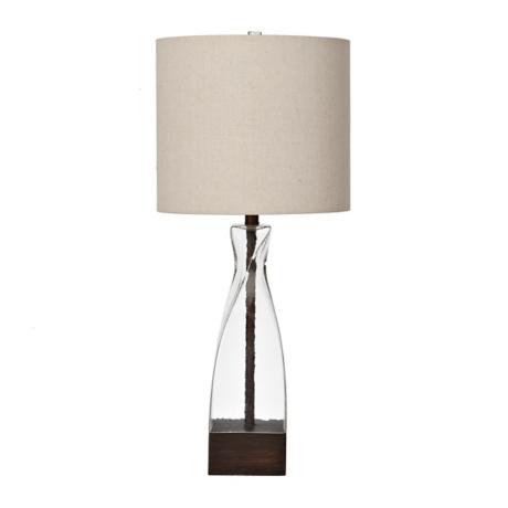 Liza clear glass twist table lamp kirklands aloadofball Choice Image