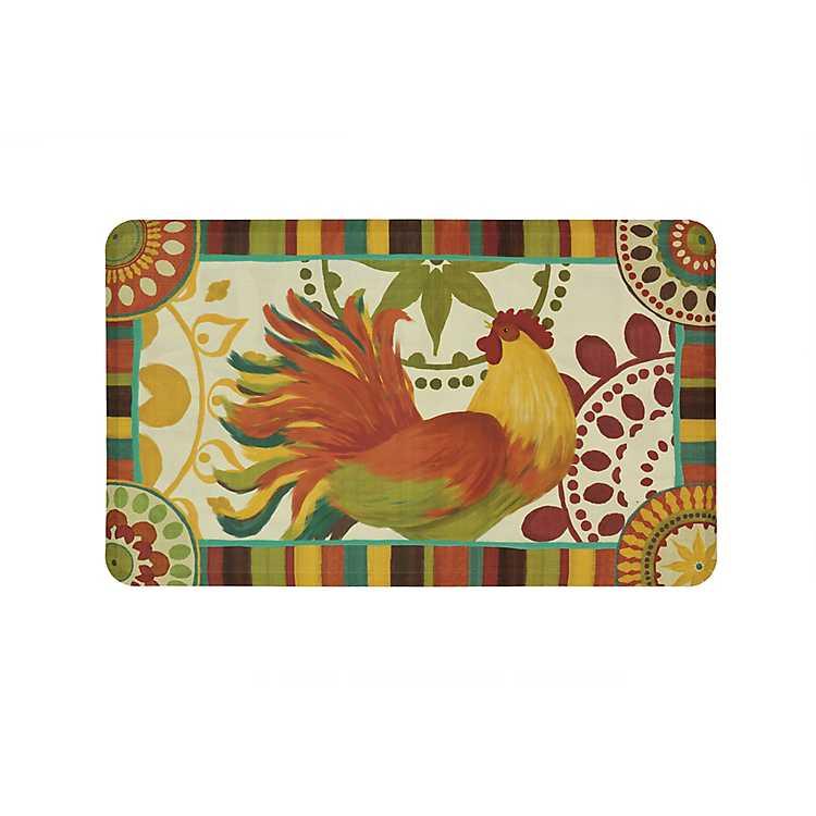 Merveilleux Painted Spice Rooster Kitchen Mat ...