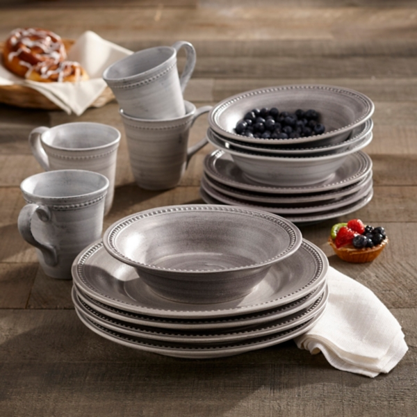 & Stone Dots 16-pc. Dinnerware Set | Kirklands
