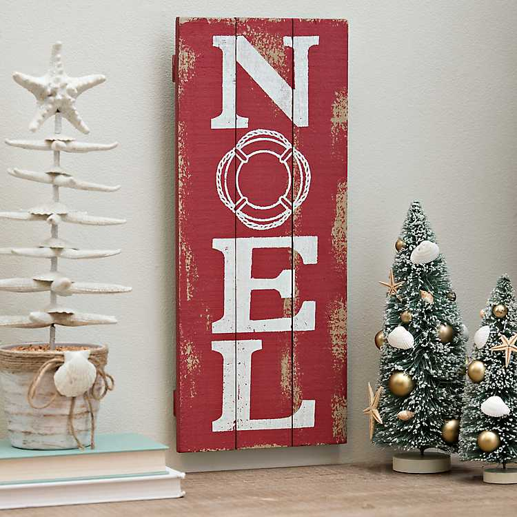 Noel Red Wooden Wall Plaque | Kirklands