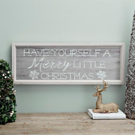Merry Little Christmas Framed Wall Plaque | Kirklands