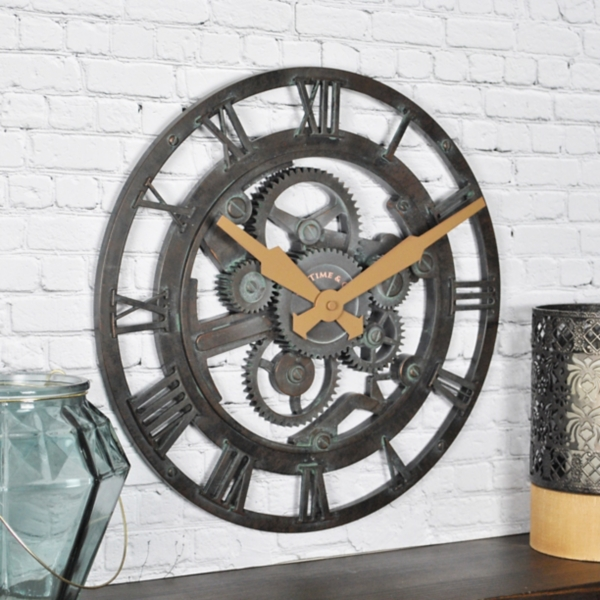 Oxidized Gears Wall Clock
